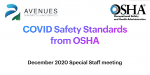 OSHA Safety Guidelines for Staff – Updated 12/11/20